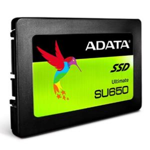 "ADATA 240GB Ultimate SU650 SSD, 2.5"", SATA3, 7mm (2.5mm Spacer), 3D NAND, R/W 520/450 MB/s, 75K IOPS"