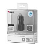 TRUST - CAR CHARGER WITH 2 USB PORTS - 2X12W