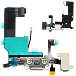 iPhone 5 Black Charging Port - Replacement Charger Flex Cable USB Dock Mic Apple