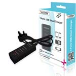 ADDON 3 Ports USB Smart Charger with UK Power Adapter