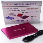2.5 SATA HDD ENCLOSURE USB 3.0 RED
