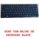 SONY LAPTOP KEYBOARD VGN-NR VGN-NS BLACK UK