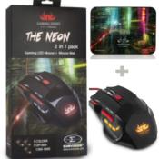 Sumvision The Neon 2 in 1 GAMING LED Mouse with Mouse Pad