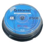 Aone 4x 25gb FF BLUE RAY DISC 10 cake box