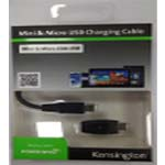 Kensington Charge & Sync Cable Mini USB to Micro USB Adapter PC Mac Mobile Phone