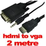 MAXAM HDMI to VGA  + AUDIO + POWER CABLE