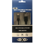 MAXAM USB 3.1 Type C (M) to Type A (M) Cable 1M