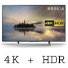 "Sony Bravia KD43XE7093BU 43"" 4K HDR Smart TV"