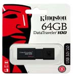 KINGSTON DT100 G3 64GB USB DRIVE