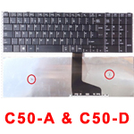 TOSHIBA LAPTOP KEYBOARD C50-A & C50-DA UK BLK
