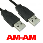 CABLE USB 2.0 AM TO AM 1.8 MTR